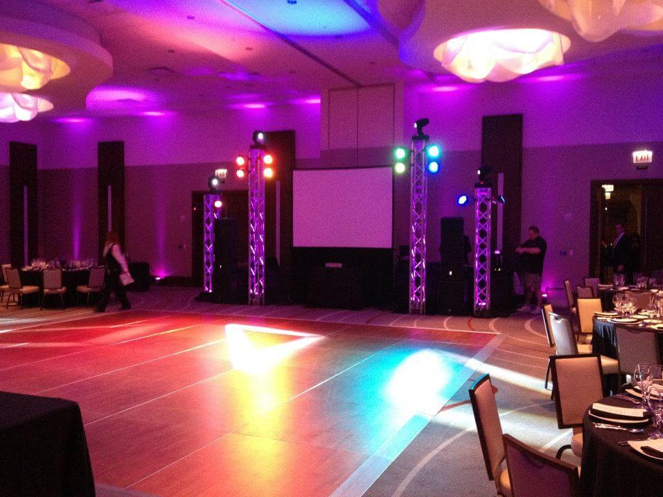 Customized Stage and Uplighting Pic 1